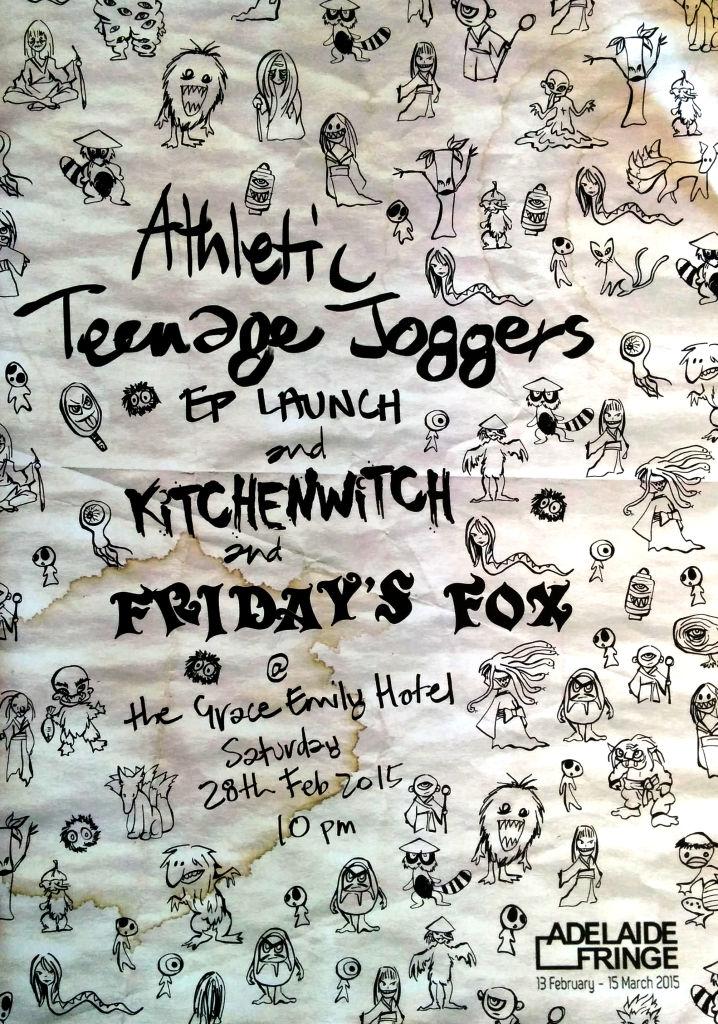 Friday's Fox / Fridays Fox / FridaysFox Athletic Teenage Joggers Poster